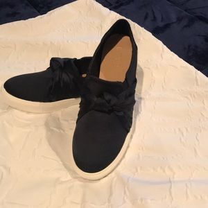 Satin sneakers- never worn. I needed a size 7.